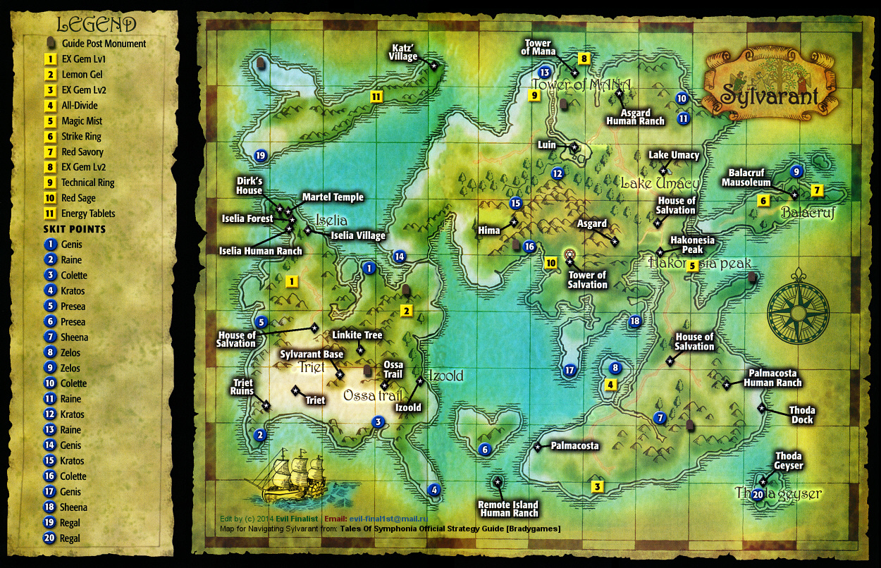 Tales Of Symphonia World Map | woestenhoeve on